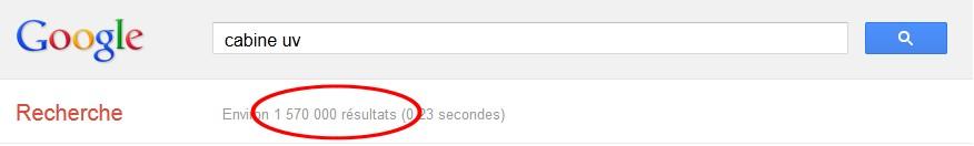 Image nombre résultats Google