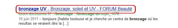 Exemple de titre résultat google