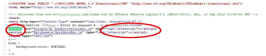 code source script java