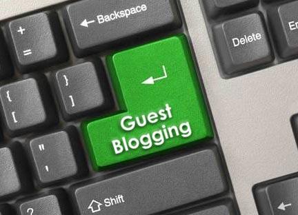 Illustration du guest blogging