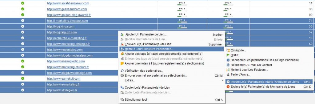 Intégrer des URL à l'index de LinkAssistant