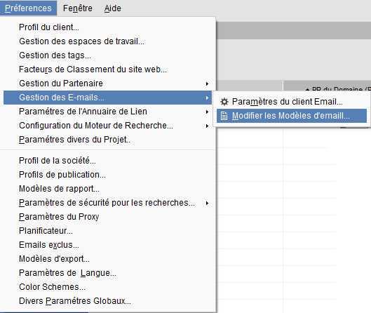 Mogifier le mail pour les sites partenaires