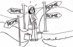 tous les chemins mênent à Rome